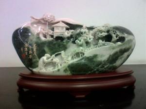 Бытовые сцены и пейзажи. Нефрит. Камнерезное искусство Китая.